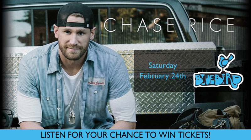 Chase Rice Ticket Giveaway