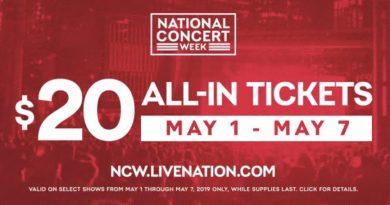 $20 Concert Tickets!
