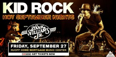Kid Rock with Hank Williams Jr @ Ruoff Home Mortgage Music Center