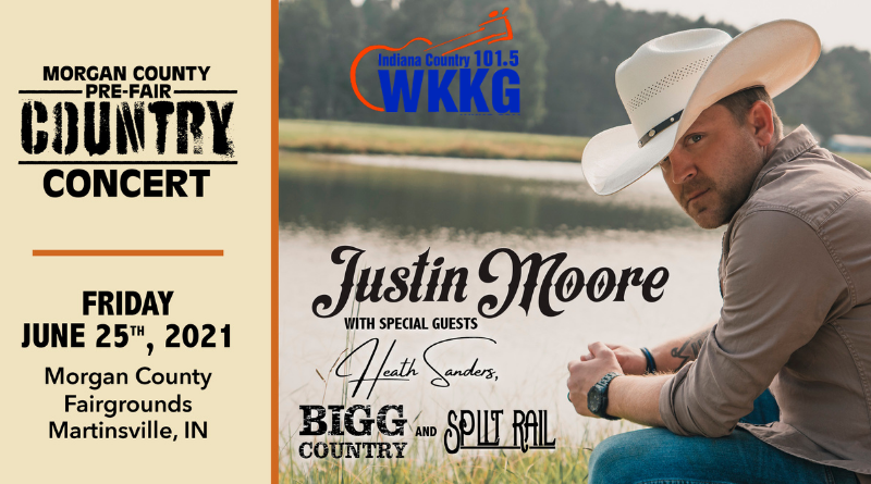 See Justin Moore on July 25th at the Morgan County Fairgrounds!